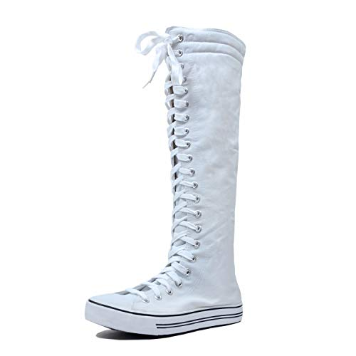West Blvd Sneaker Boots White Canvas,