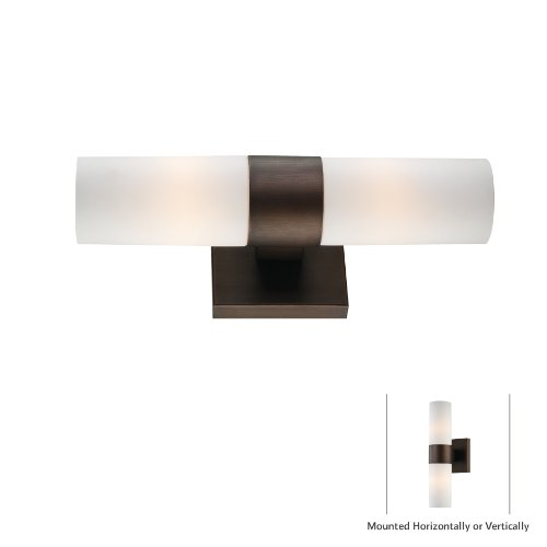 Minka Lavery 6212-647, 2 Light Wall Sconce, Copper Bronze (Bronze Patina Wall Lamp)