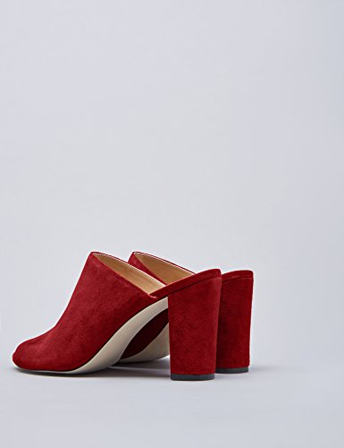 Carrés Hauts Talons Mules Dark Red Femme FIND Rouge x6EC1ww