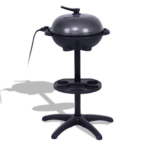 simplyUSAhello 1350 W Outdoor Electric BBQ Grill with Removable Stand