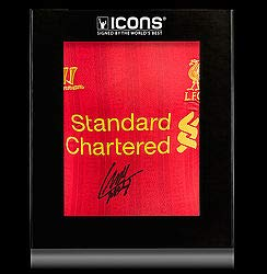Luis Suarez Front Autographed Signed Liverpool 2013-14 Home Shirt In Deluxe  Packaging - Certified f51b5014b