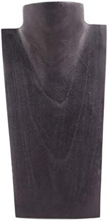 Artisanal Raw in Legno Collana Busto espositore H25/cm