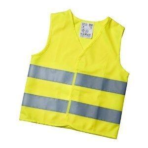 Gilet de haute visibilité Taille S / jaune fluo) pour enfants de 5–12 ans