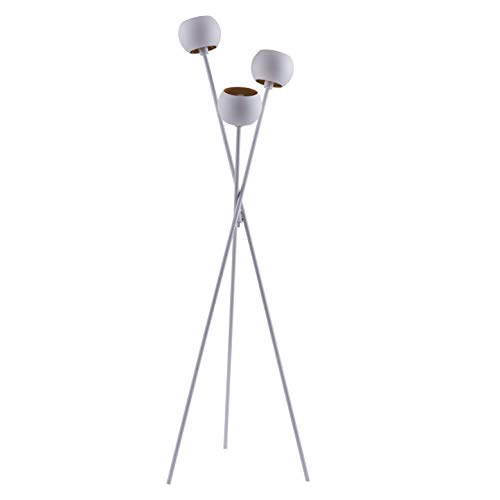 - Archiology Modern Tripod Floor Lamp, Standing Light with Orb Shade Uplight for Living Room or Bedroom White