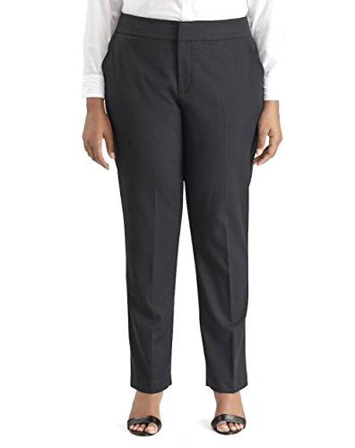 (Chaps Women's Misty Day Plus Size Straight-Leg Dress Pants (Black, 20W)