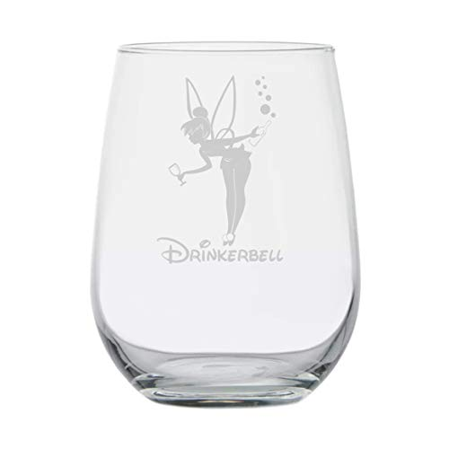 Fairy Gifts | Drinkerbell | Disney Wine Glass | Funny Birthday Gifts | Movie Themed | Couples Gifts | Disney Princess | Fairy tales | Mermaids | Best Friend Birthday Gift | Adult Tinkerbell Inspired -