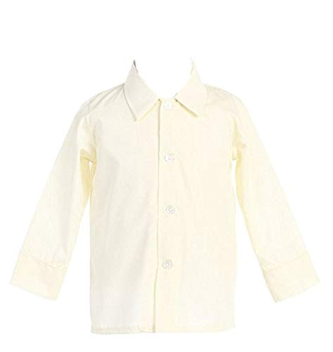 Boys Infant Toddler Child Ivory Long Sleeved Simple Dress Shirt - XL ()