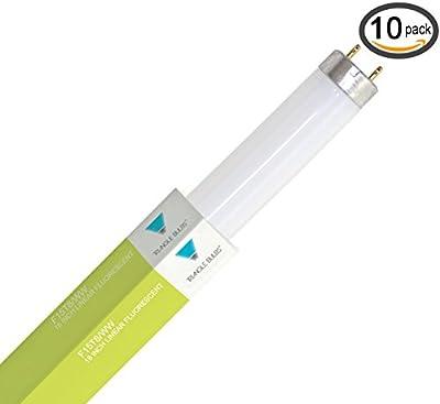 (Pack of 10) F15T8/WW 15-Watt Straight T8 Fluorescent Tube Light Bulb, Warm W...
