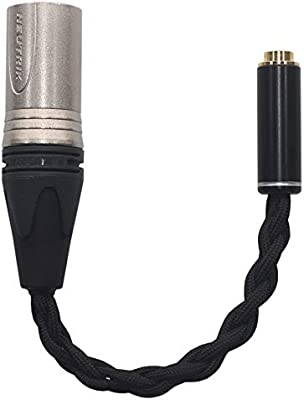 Amazon Com Xl4 4 Hifi 4 Pin Xlr Balanced Male To 4 4mm Trrs Female Balanced Cable Headphone Audio Adapter Xl4 4