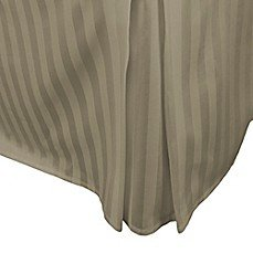 500-Thread-Count Damask Stripe Bed Skirt, 100% Egyptian Cotton , Taupe, Twin (500 Thread Count Damask Stripe Bed Skirt)
