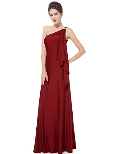 HE09463BD08, Brick Red, 6US, Ever Pretty Long Dresses Wedding Party 09463