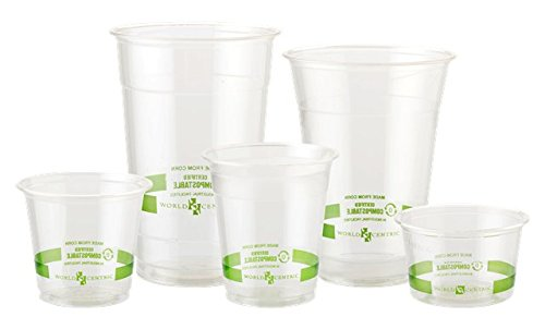 9 oz | Compostable & Biodegradable Plastic Cold Cups | 2,000 count by World Centric (Image #2)