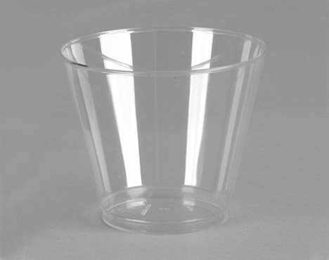 ChefLand 9 Oz. Crystal Clear Heavyweight Plastic Squat Tumblers Party Cup – 20 Count
