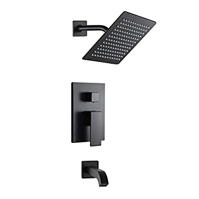 Adjustable Shower Head Extension Arm - 10 Inch Brass Shower Arm Extender Hardware