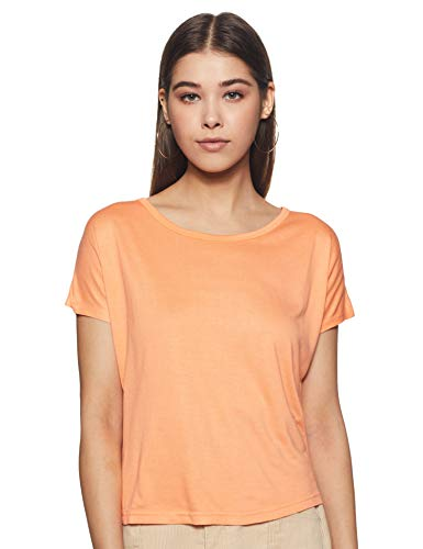 Life by Shoppers Stop Womens Round Neck Solid T-Shirt