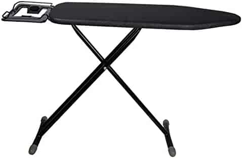 TUYU Black Ironing Board Cover Black Resistant to Charred and Stained Ironing Board Replacement Cover with Drawstring Closing 15 x51 Heat and Anti-Focus Iron Board Cover
