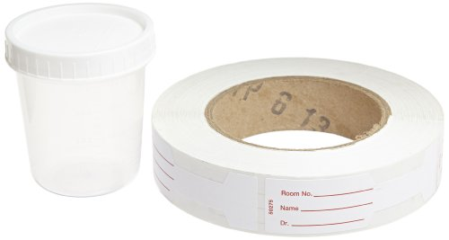 Kendall 8889207034 Polypropylene General Purpose Specimen Container with White Cap, Non Sterile, 4 oz Capacity, Translucent (20 Bags of ()