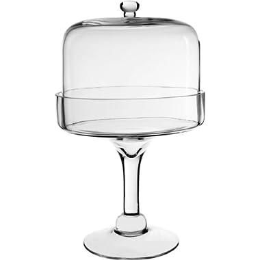 Glass Cloche with Tray, Plant Terrarium. 12  H (4 pcs)
