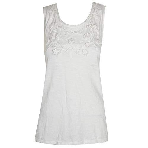 - Style & Co Cotton Soutache-Trim Tank Top (White, L)