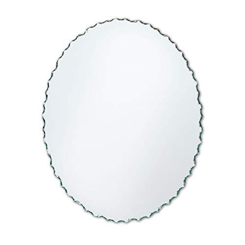 Better Bevel Small Frameless Oval Wall Mirror | Chiseled Edge | Bathroom, - Bathroom Chiseled Edge Mirrors