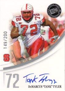 2007 Press Pass Autographs Silver #64 DeMarcus Tank Tyler/73 Auto NFL Footballl Trading Card