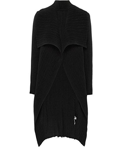 Thanny Mujeres chaqueta de cascada giacca plisado Negro Negro
