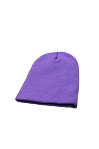 Wolleschutzkappe - TOOGOO (R) Winter Beanie Knit Warme Ski Kappe Wolle Strickmuetze (helllila)
