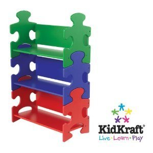 Toy / Game Kidkraft Whimsical Puzzle Book Shelf - Primary W/ Durable Wooden Construction - For Child's Voyage! (Wall Shlf)