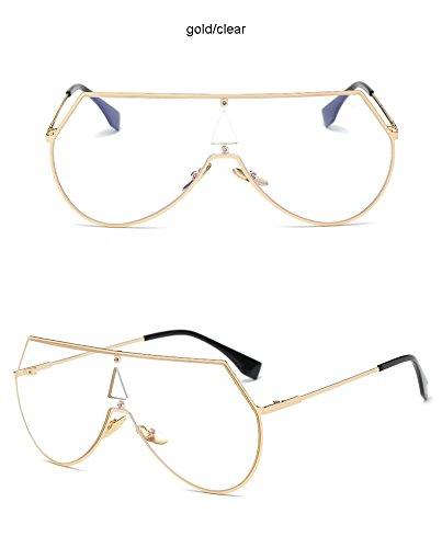 Gafas gafas plateado para sol color Fashion dorado Aprigy de Gold Gold y Clear sol de Steampunk hombre Clear Cool qR8xSFt