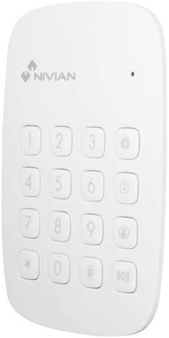 Nivian teclado inalámbrico compatible con alarma Nivian – Apto para interior – Múltiples funciones de gestión– Lector de TAG RFID - Fácil instalación ...