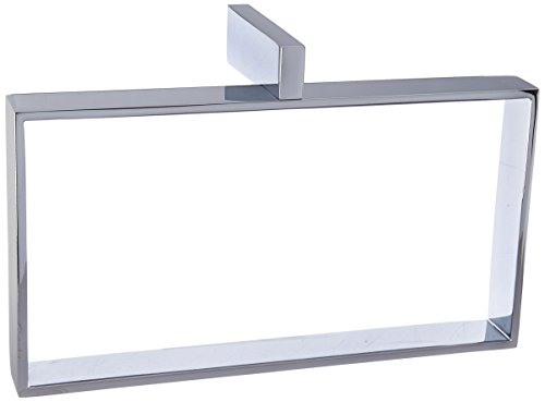 Rohl QU220-APC Cisal Wave Quad Rectangular Towel Holder Ring in Polished (Cisal Towel Bar)