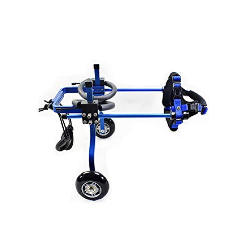 YE Dog Wheelchair, Disabled Dog Scooter, Hind Limb Rehabilitation Vehicle, Cat and Dog Rehabilitation Training Wheelchair (Color : Blue, Size : XXS)
