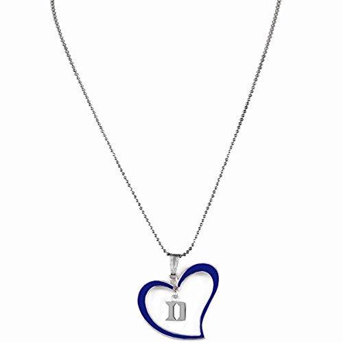Devil Hot Costume (Sports Team Accessories Duke Blue Devils Blue Heart Logo Necklace)