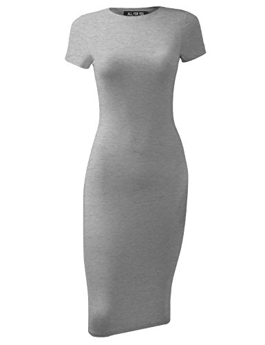 - A.F.Y All For You Women's Slim Fit Sandwich Dress Heather Grey Large