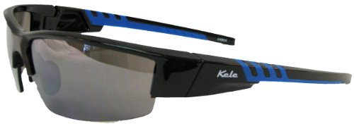 Kele by NYX Lunette Sunglasses, Black/Blue Gloss Frame/Grey - Lunettes Sunglasses