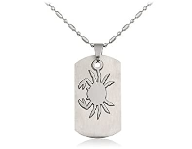 Boyz silver stainless steel cancer zodiac sign pendant necklace silver stainless steel cancer zodiac sign pendant necklace with chain for men aloadofball Choice Image