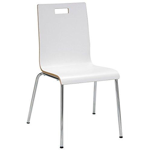 KFI Seating JIVE Series Bentwood Laminate Cafe Chair, White ()