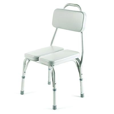 INV9872 - Vinyl Padded Shower Chair, 17-1/4 - 22 x 15-1/4 x 16