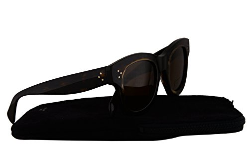 Celine CL41397/S Sunglasses Havana w/Brown Gradient Lens T7FA6 CL - Aviators Square Celine