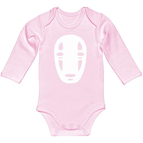 Baby Romper No Face Light Pink for 6 Months Long-Sleeve Infant Bodysuit