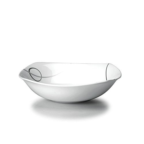 Mikasa Circle - Mikasa Geometric Circles Vegetable Bowl, 32-Ounce