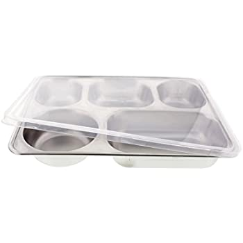 Amazon Com Cheftor Stainless Steel 5 Meal Compartments