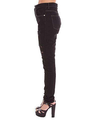 Coton Femme Laurent Saint Jeans Noir 400526Y432K4075 PzRqxFwY