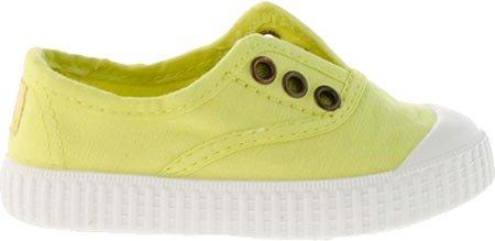 Victoria - Zapatillas de casa de tela para niños Limón