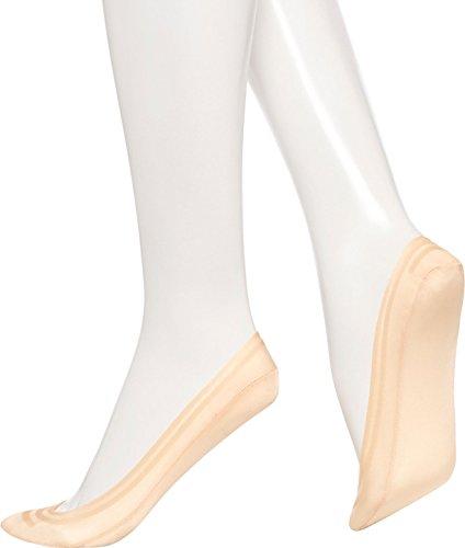 Hue Liner (Hue Women's Classic Silicone Edge Liner Socks, Natural, Medium)