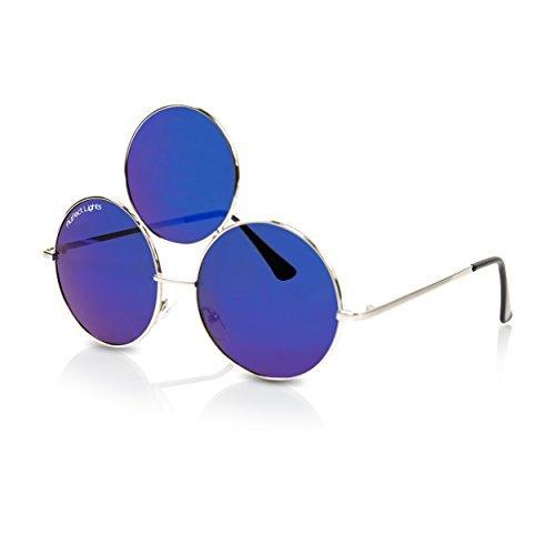 Trippy Lights The Original Third Eye Sunglasses Reflective Blue