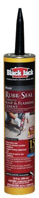 Gardner-Gibson 6148-9-62 10.1 oz Black Jack Rubr-Seal Rubberized Roof & Flashing Cement - Quantity 12