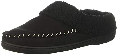 Dearfoams Women's Microsuede Clog Slipper, Black, XL Regular US ()