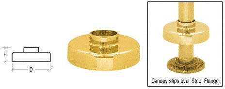 CRL Polished Brass Canopies for 1-1/2' Tubing