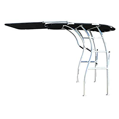 """Krypt Towers Dolphin PRO2,PRO3 T TOP Canopy Extension Kit, Adds 60% Shade, Stainless Frame 47"""" Long x 60"""" Wide, Black, Navy Blue, or White: Sports & Outdoors"""